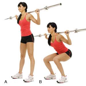 Womans Health back squat