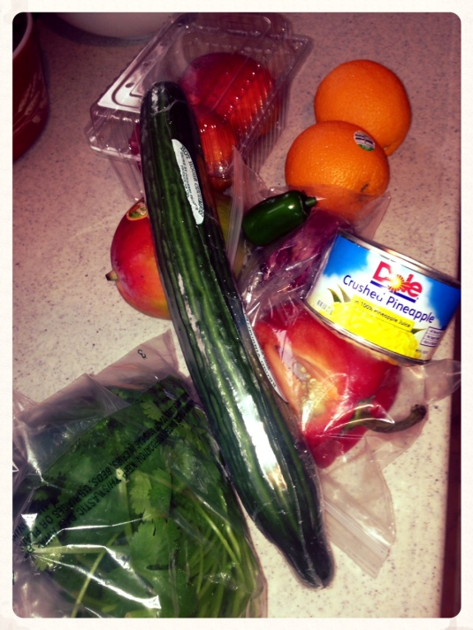 Cold Mango Soup ingredients