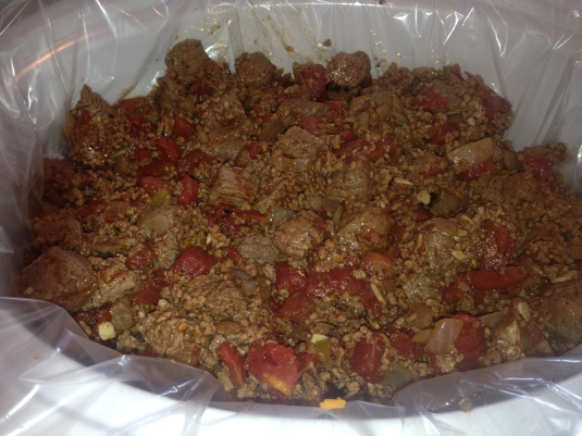 meat mixture with spices ontop of squash... on low 6-8 hours